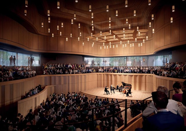 How Kronberg's concert hall will look at the opening in 2021. Simulation: Staab Architekten / Kronberg Academy (2019)